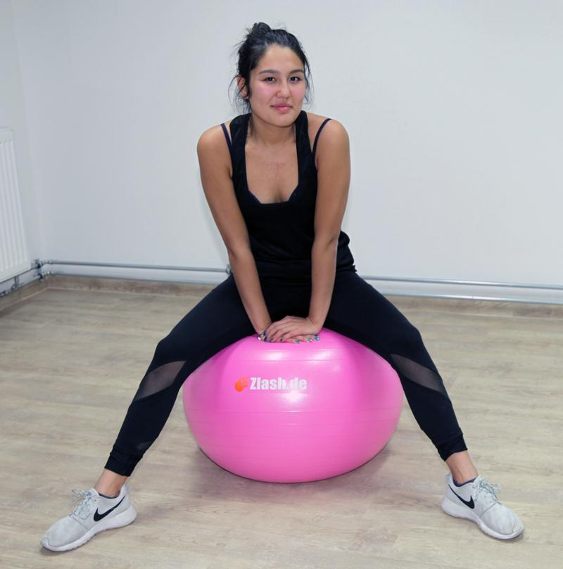 top gymnastikball 55 cm pumpe sitzball fitnessball yogaball b rostuhl y5 ebay. Black Bedroom Furniture Sets. Home Design Ideas