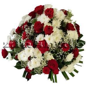 Blumengesteck Rot-Weiss
