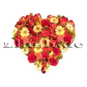 Blumenherz Rot gelb