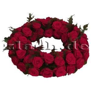 Rosenkranz dunkelrote Rosen